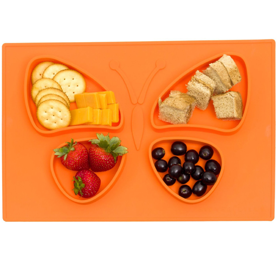 One piece silicone placemat for kids